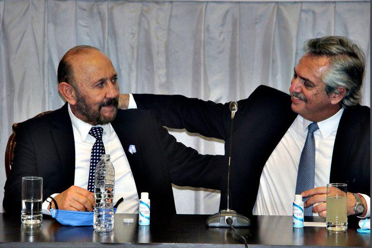 Gildo Insfrán junto al presidente Alberto Fernández