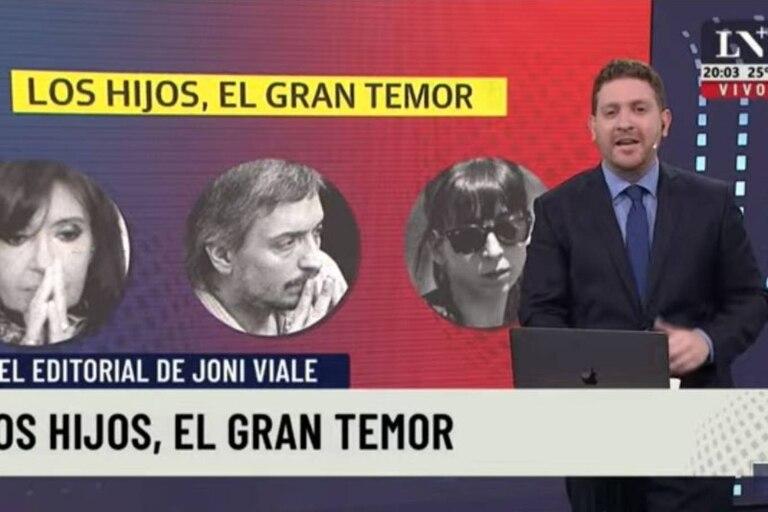 El periodista dedicó su editorial a lo que para él es el temor más grande de Cristina: la situación de sus hijos ante la justicia