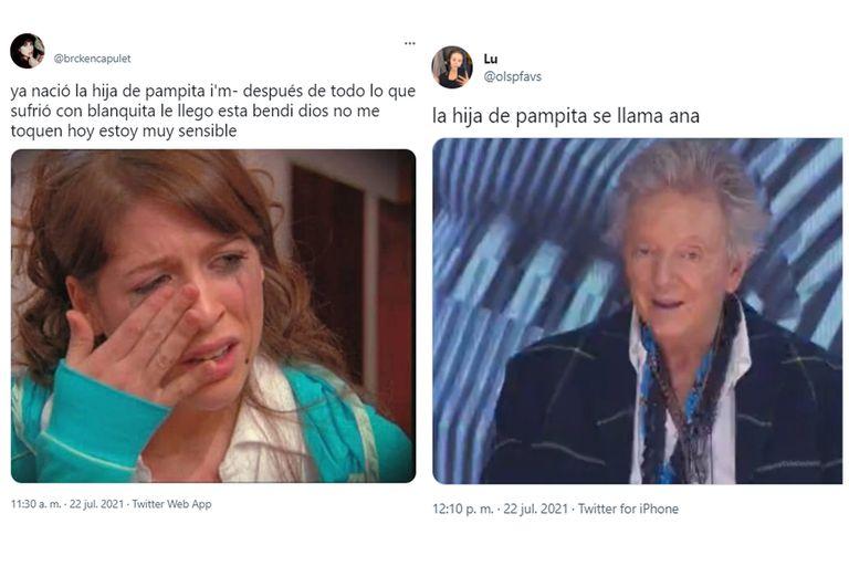 Los memes por el nacimiento de la hija de Pampita Ardohain