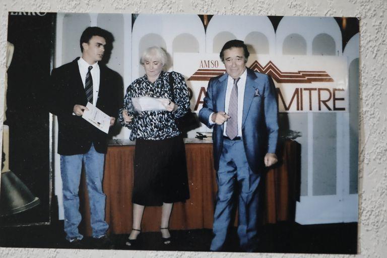 Tato Bores, uno de sus artistas admirados, aquí también con Sebastián Borensztein