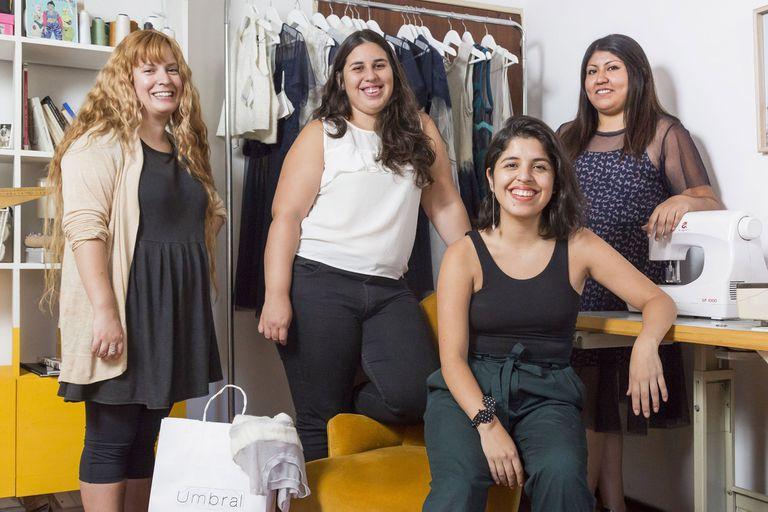 Cuarteto creativo. Victoria Reynoso, Yamila Cabrera, Flavia Zea y Vanesa Lara