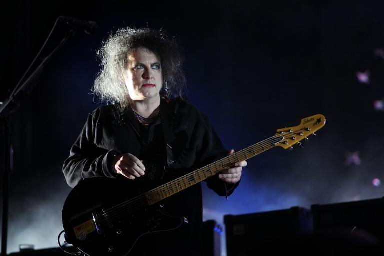Robert Smith con The Cure en Buenos Aires, en 2013, en el Estadio de River Plate