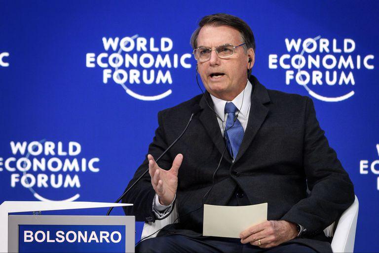 Bolsonaro, hoy, en el foro de Davos