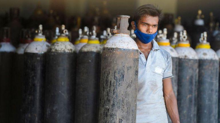 El oxígeno se convirtió en un recurso vital en India.