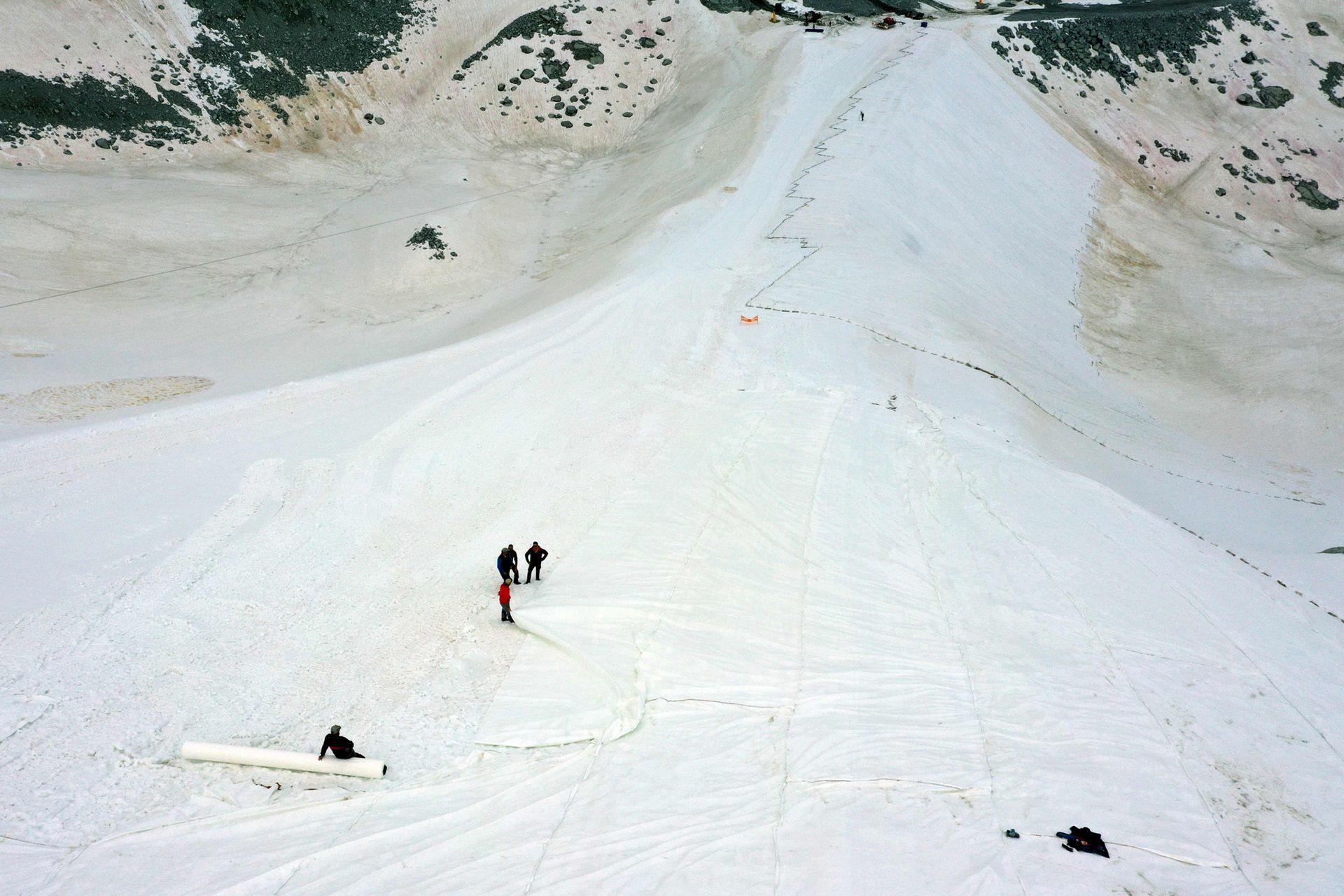 El glaciar se encuentra en la región de Pellizzano