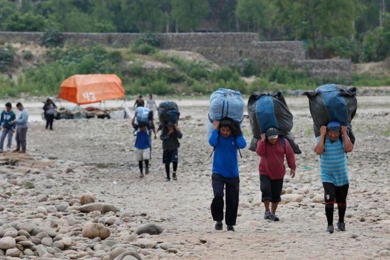 Contrabando en la frontera entre Salta y Bolivia