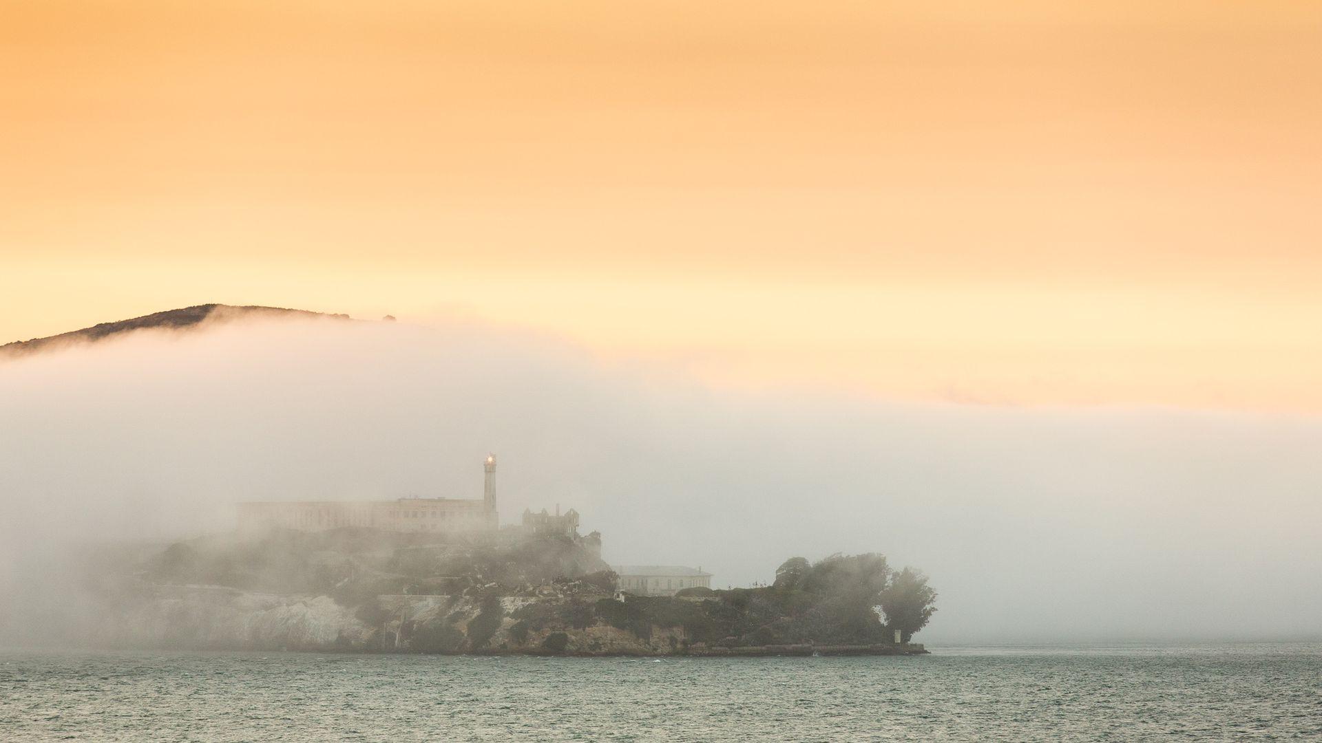 Vista de Alcatraz, San Francisco.