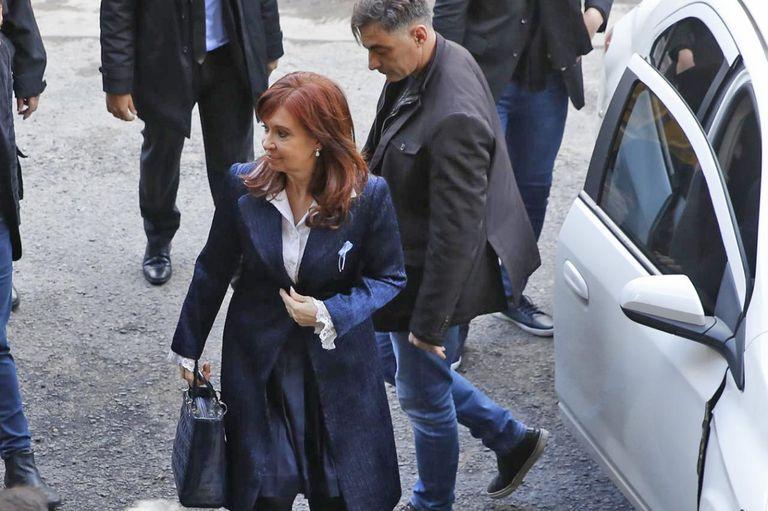 Cristina al llegar a Comodoro Py