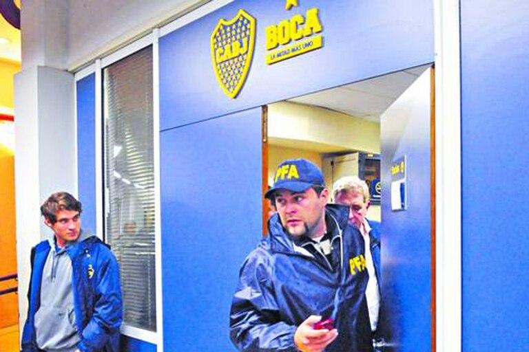 Las oficinas de Boca también fueron allanadas