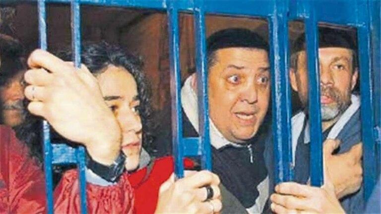 D'Elía, en la toma de la comisaría, en junio de 2004