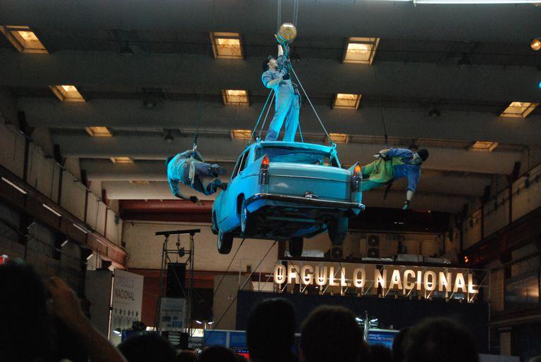 Uno de los espacios del polo dedicado a la industria argentina