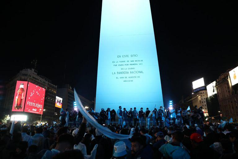 Argentina Campeon Copa America 2021. Festejos en el Obelisco