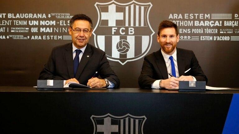 Messi renovó con el Barcelona hasta 2021