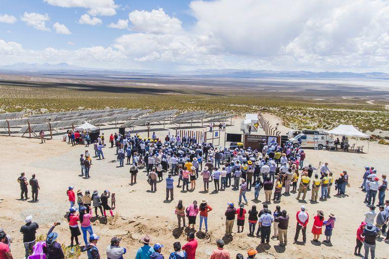 Inauguración de la central fotovoltaica en Olaroz Chico