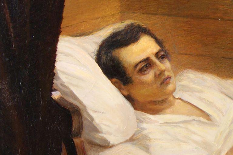 Mariano Moreno, en sus últimas horas. Óleo sobre tela de 1912 de Egidio Querciola, en el Museo Histórico Nacional.