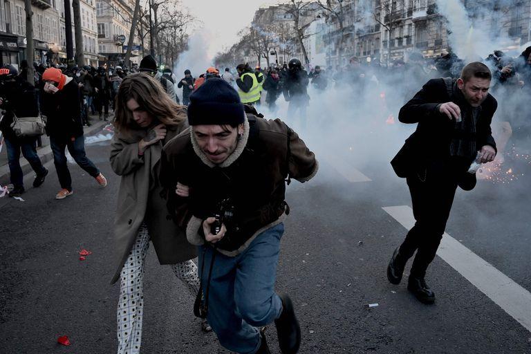 En París, se registró otra jornada de marchas e incidentes