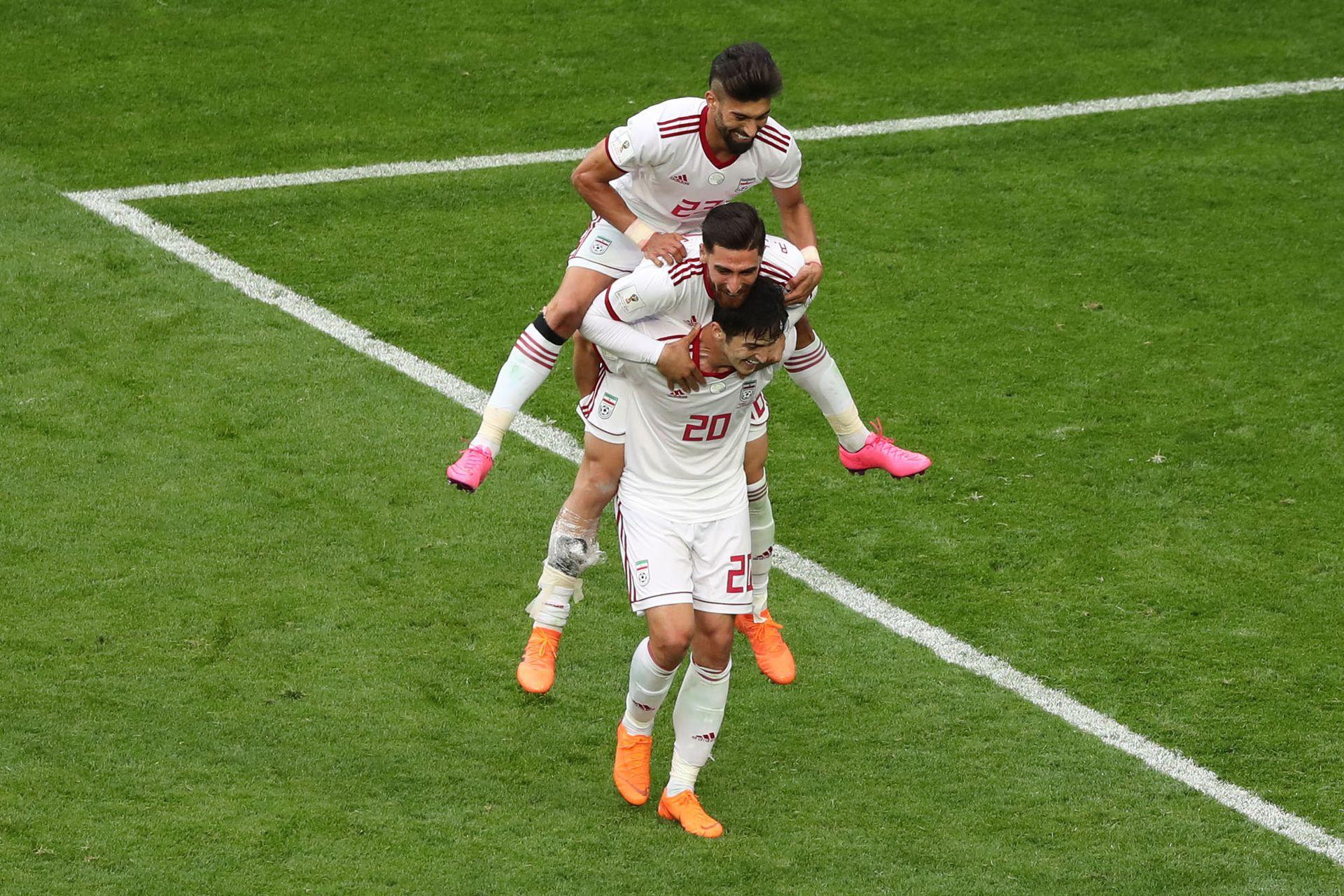 Gol de España durante el primer tiempo