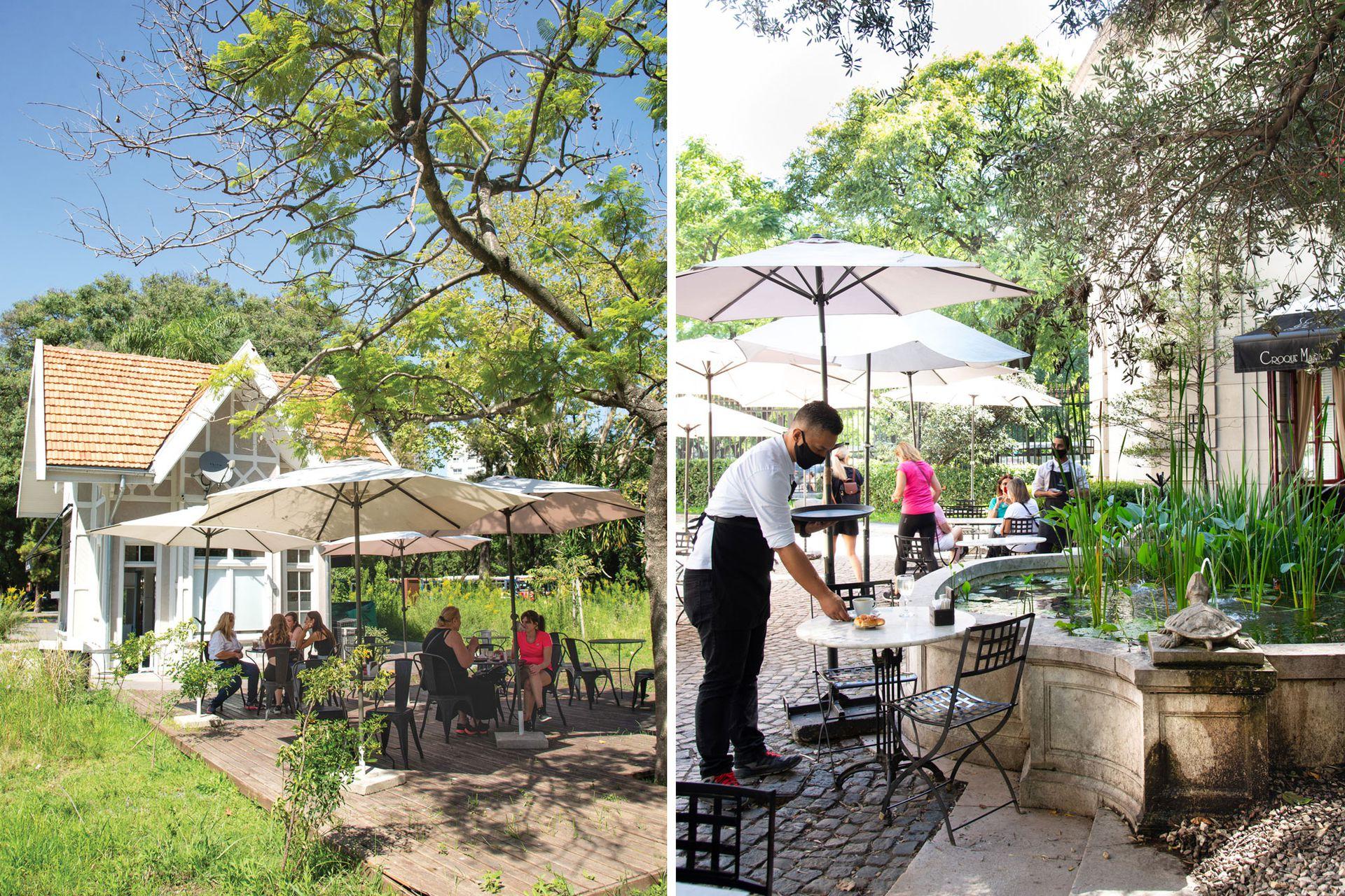 En el Ecoparque (izquierda) y en el Museo de Arte Decorativo (derecha), dos sitios de alto valor natural y arquitectónico en los que se encuentra Croque Madame Café.