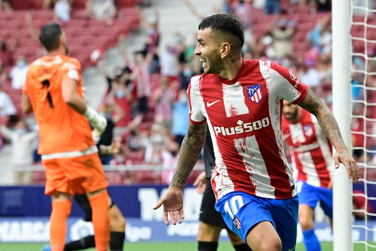 El delantero argentino de Atlético de Madrid, Ángel Correa, uno de los citados por el DT Scaloni que podrá viajar y sumarse a las Eliminatorias.