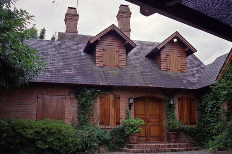 La casa del country Carmel donde ocurrió el crimen, el 27 de octubre de 2002