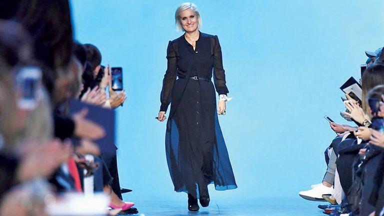 Maria Grazia Chiri, en la pasarela de Dior