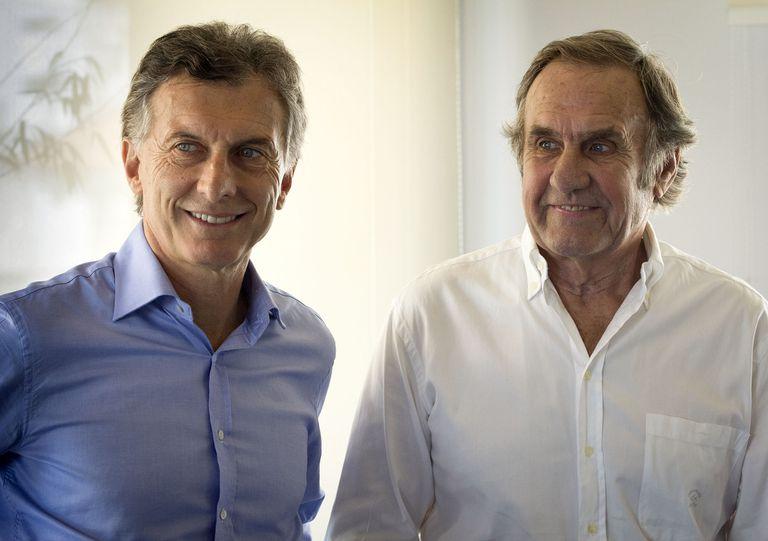 Mauricio Macri y Reutemann, en 2015