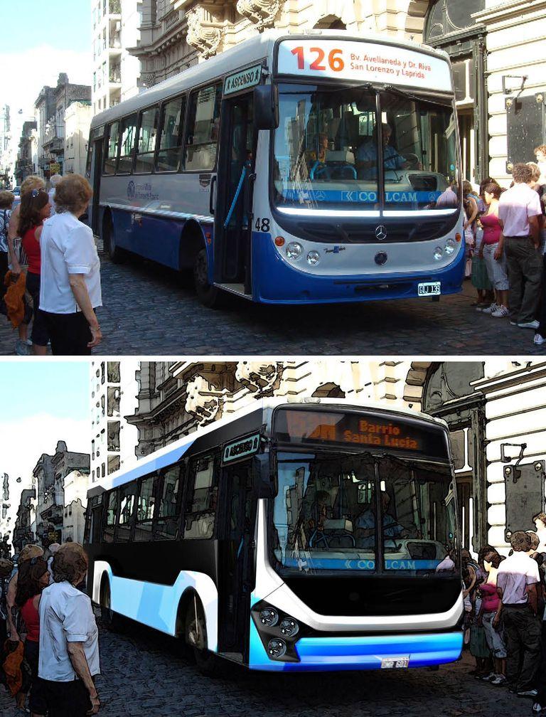 Antes y después del bus ecológico rosarino