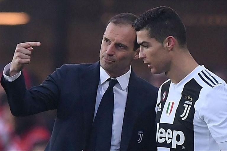 Massimiliano Allegri y Cristiano Ronaldo, en una imagen del pasado que puede reeditarse.
