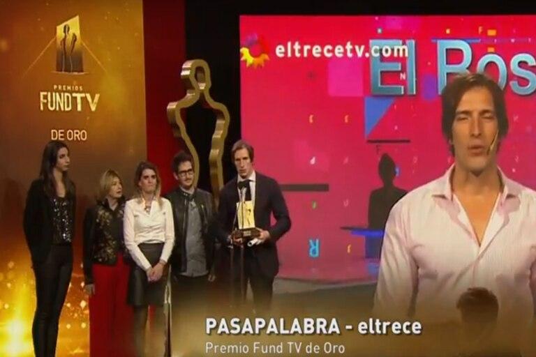En el cierre de la noche, Pasapalabra se llevó el premio Fund TV de oro