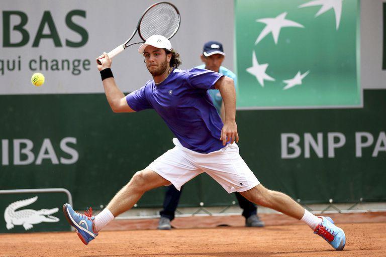 Marco Trungelliti, durante un partido en Roland Garros 2016