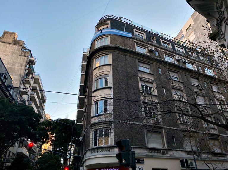 El edificio donde vive Cristina Kirchner