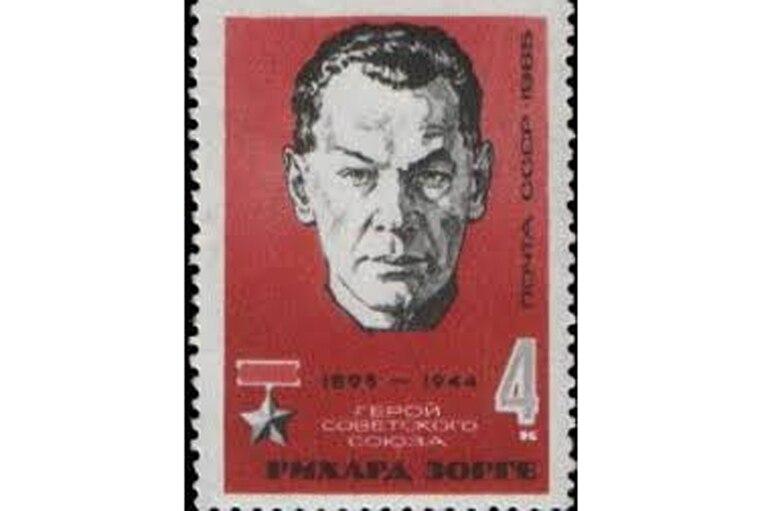 Estampilla conmemorativa como héroe en la URSS (1965)