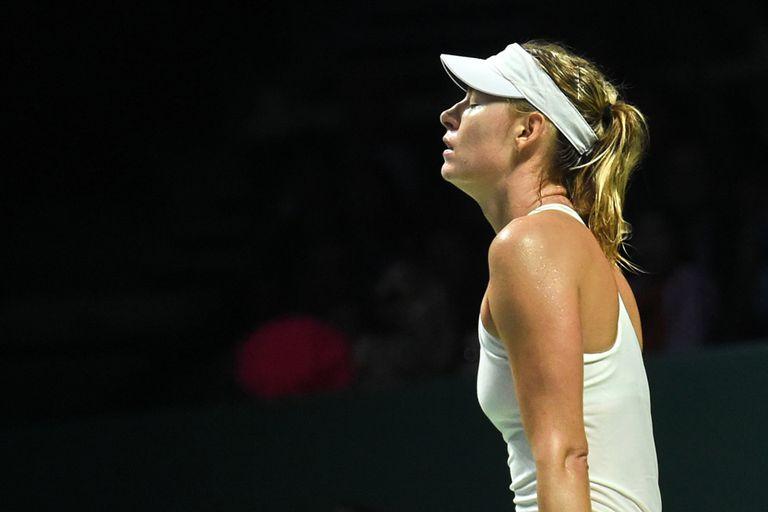 Maria Sharapova ganó pero se quedó fuera de las semifinales del Masters
