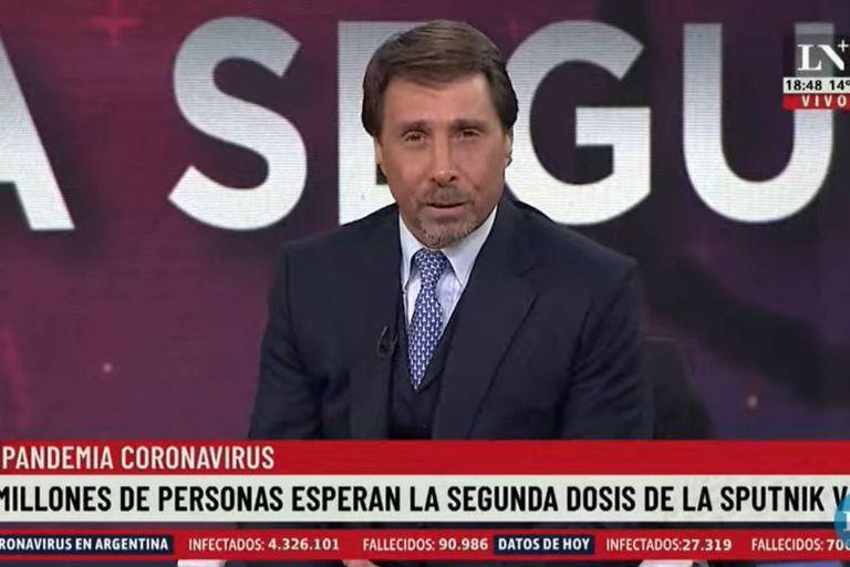 Eduardo Feinmann se refirió en duros términos a las declaraciones de Alberto Fernández sobre la segunda dosis de la vacuna contra el coronavirus
