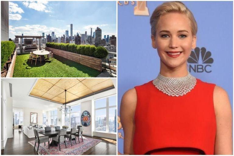 A la venta y en oferta. Así es el penthouse de Jennifer Lawrence en Nueva York