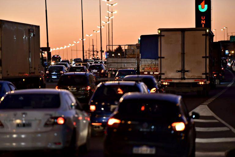 Tráfico intenso en Panamericana con sentido al norte