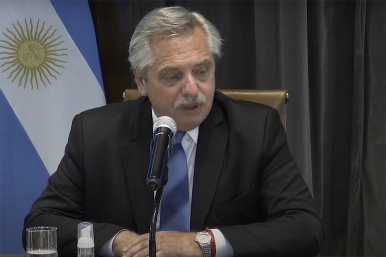 El presidente Alberto Fernández, en Santiago del Estero