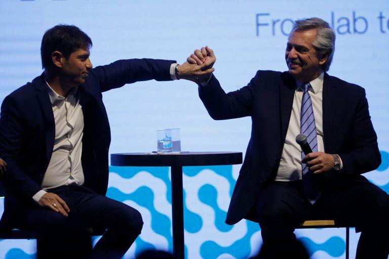 Axel Kicillof y Alberto Fernández
