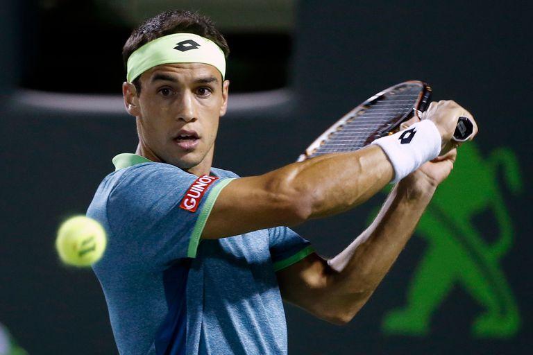 Nicolás Kicker, en su época de jugar activo en el circuito ATP
