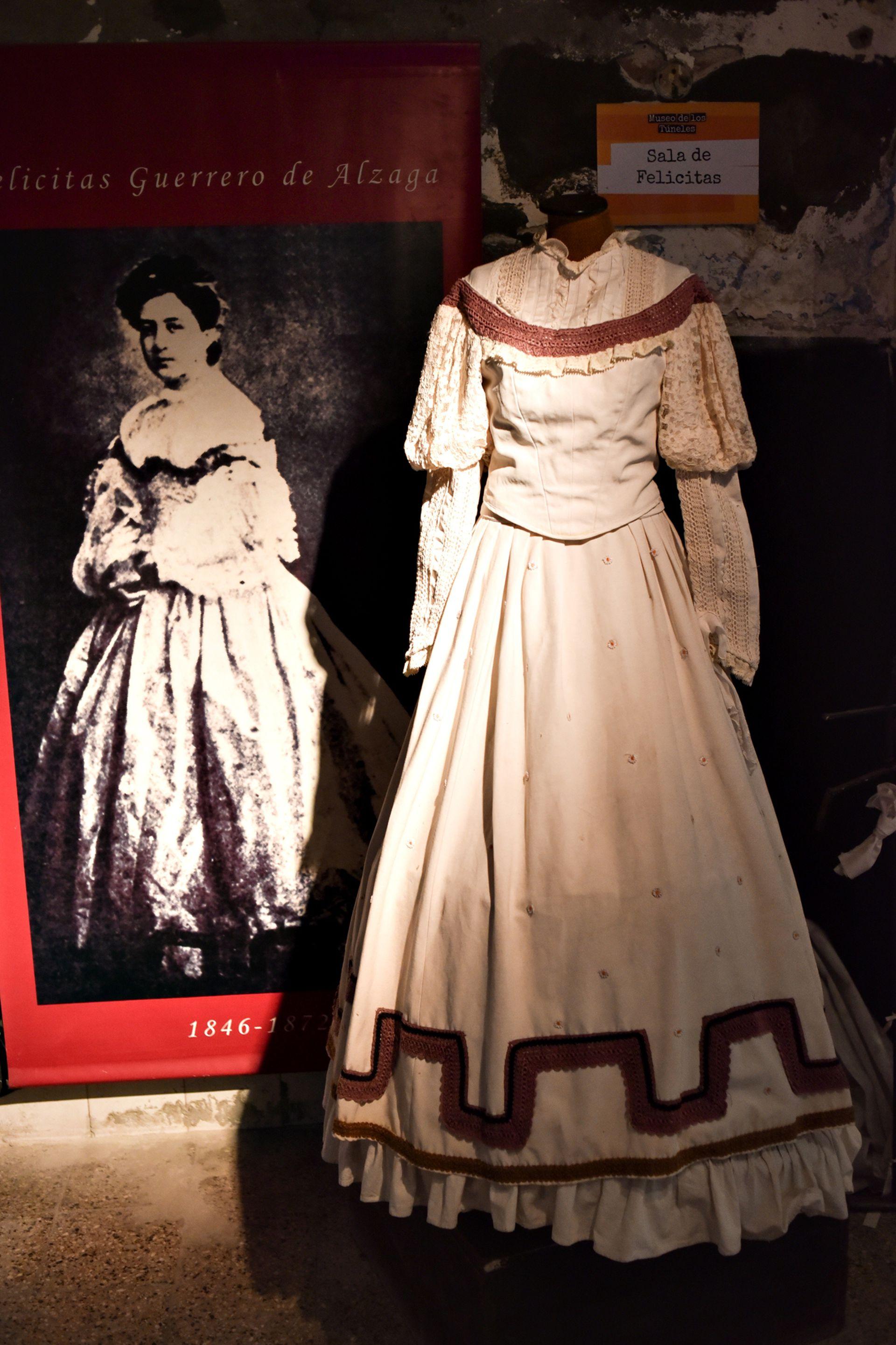 Una de las salas está íntegramente dedicada a Felicitas con vestuario que emula el utilizado en la época