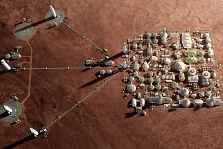Musk declaró que espera poblar Marte con un millón de personas para 2050