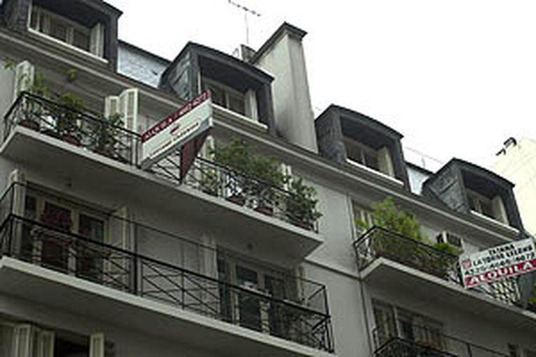 Frente del edificio donde vivía Claudio Lanzetta, a metros del Jardín Botánico de Buenos Aires
