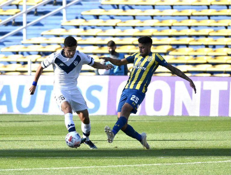 Rosario Central le ganó a Vélez en tiempo de descuento con otro gol de Vecchio