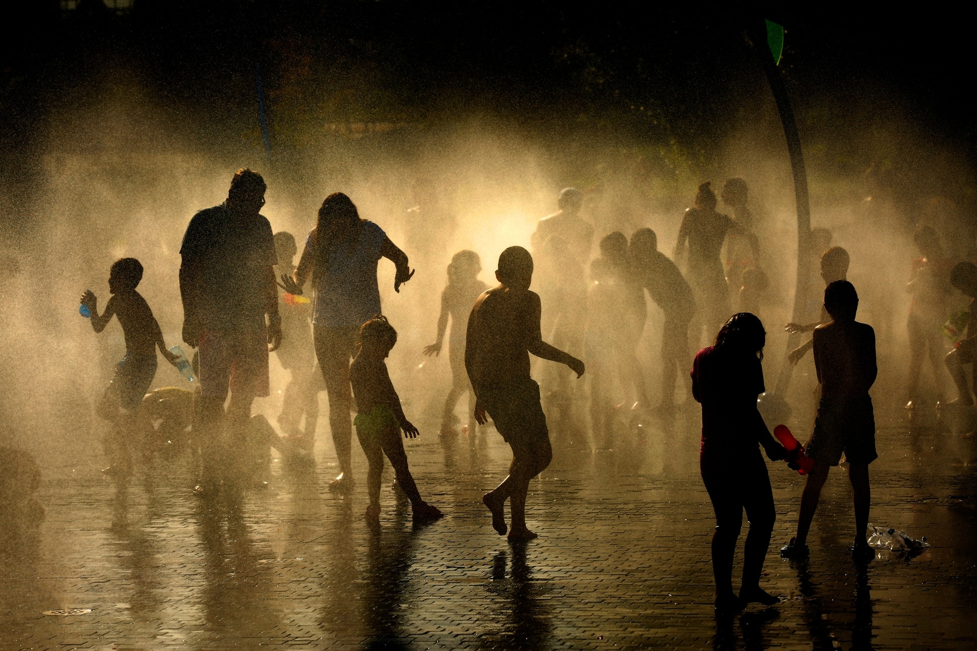 El calor en Madrid, en España