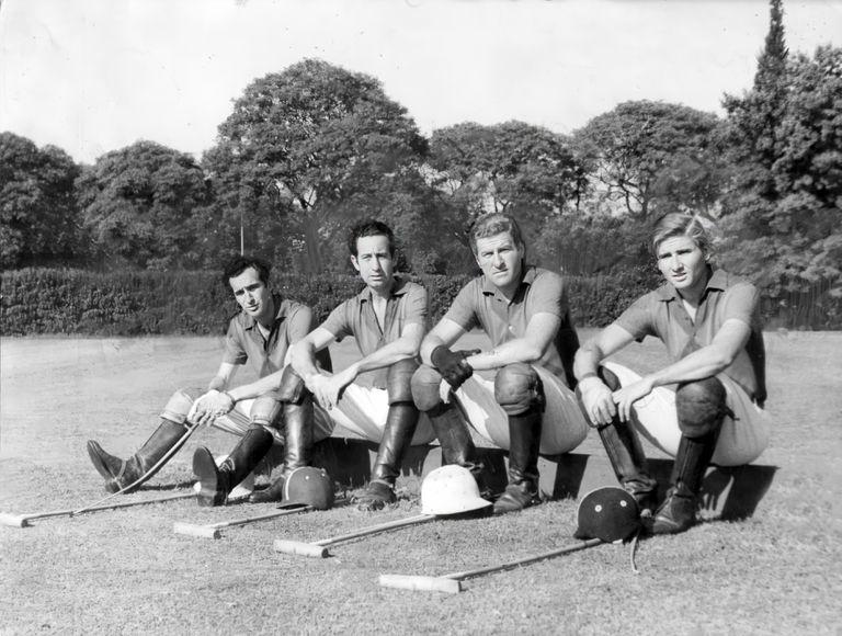 El histórico cuarteto. Alberto Pedro Heguy, Horacio Heguy, Juan Carlos Harriott (h) y Alfredo Harriott posando en 1968.