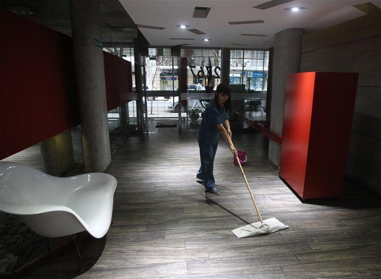 En un edificio de Palermo, la limpieza fue tercerizada