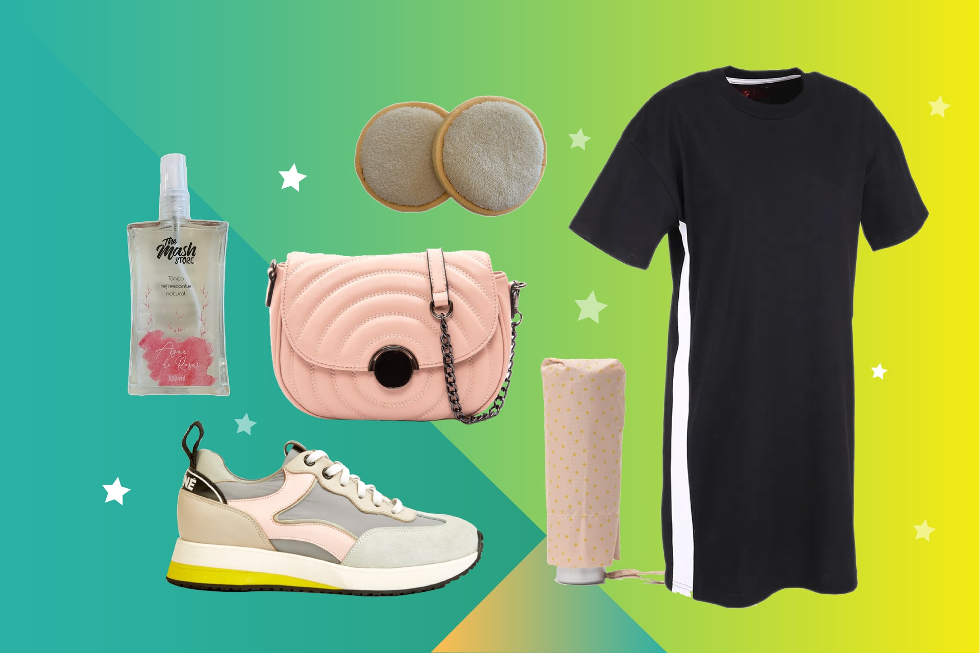 Los días más cálidos del otoño se transitan muy bien con este mix sporty chic, entre zapatillas y vestido