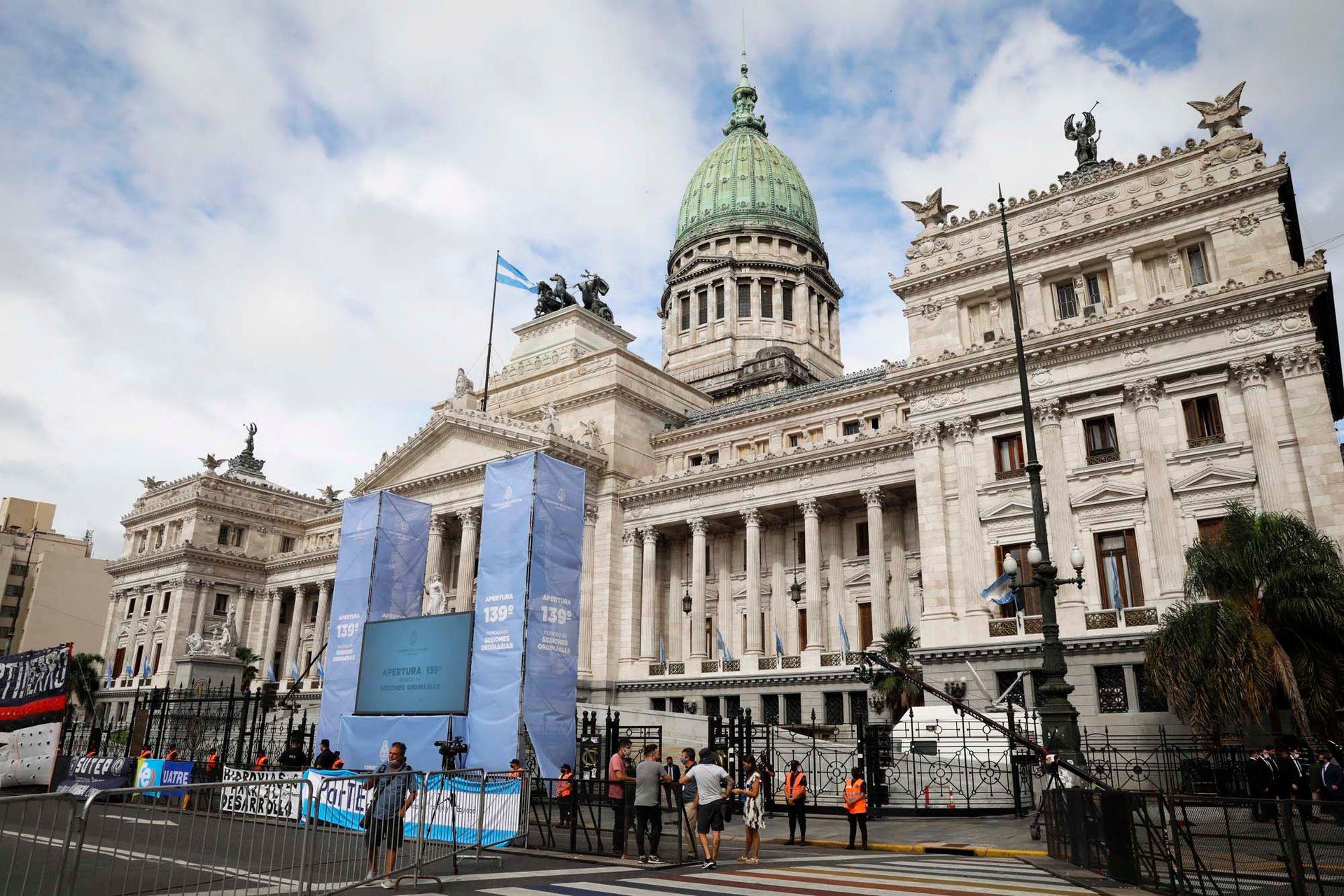 El Congreso de La Nación preparado para la apertura de las sesiones legislativas