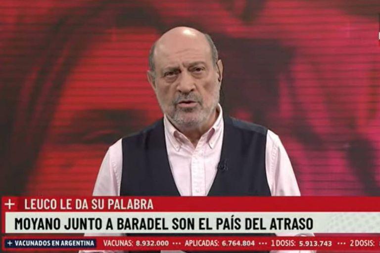 Alfredo Leuco cargó en su editorial contra Roberto Baradel y Pablo Moyano