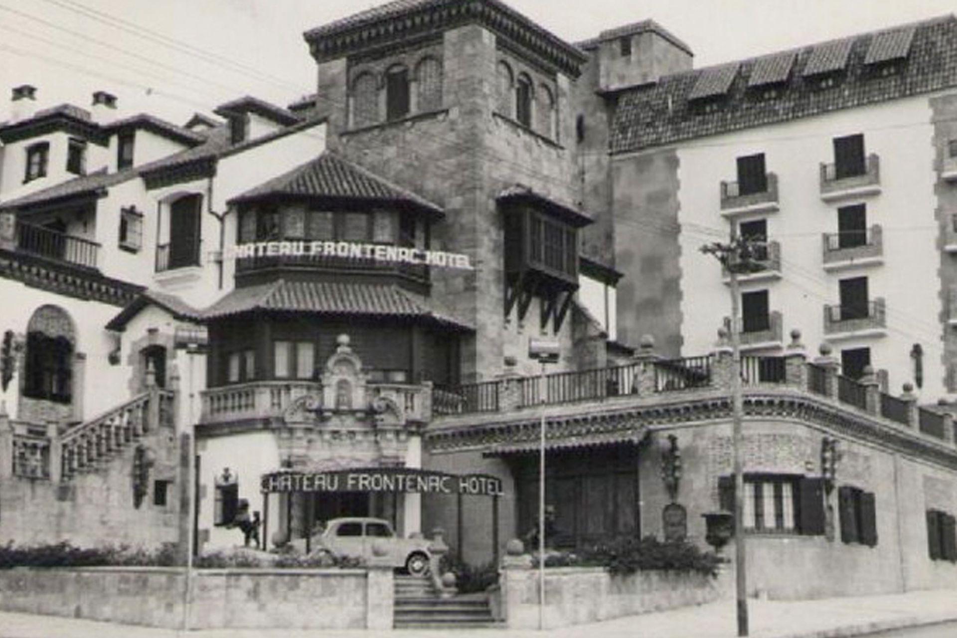 El hotel, en su época de esplendor